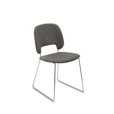 Ravsten Upholstered Dining Chair Upholstery: Brown Fabric, Finish: Chrome