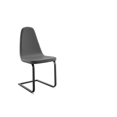 Kennicott Upholstered Dining Chair Upholstery: Gray, Finish: Anthracite