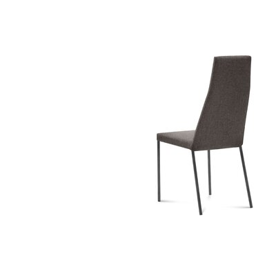 Sierra Genuine Leather Upholstered Dining Chair (Set of 2) Finish: Skill Grey