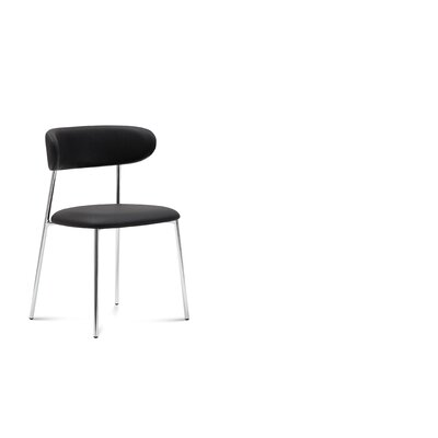 Riehemann Upholstered Dining Chair Upholstery: Black