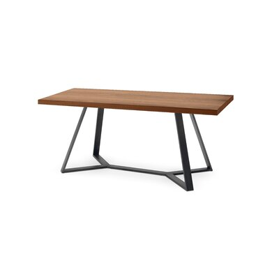Archie-L-200 Dining Table Frame: Anthracite, Top: Walnut