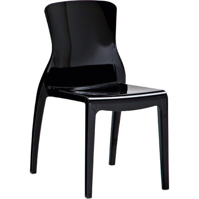 Crystal Side Chair (Set of 4) Finish: Black