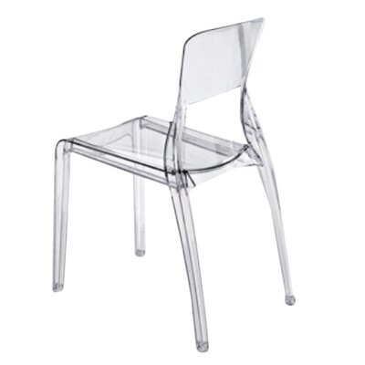 Crystal Side Chair (Set of 4) Seat Color: Transparent