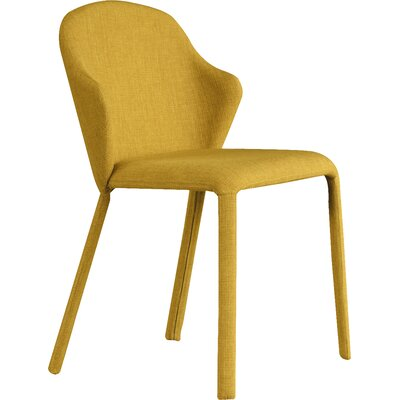 Opera Genuine Leather Upholstered Dining Chair (Set of 2) Finish: Flirt Mustard