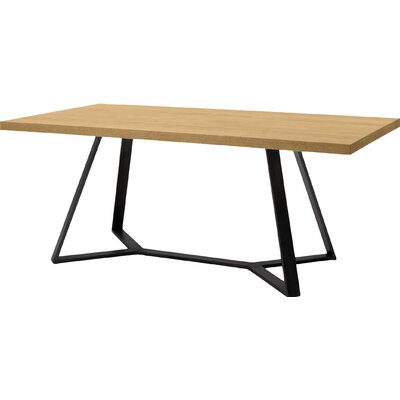 Archie L 200 Dining Table Frame Anthracite Top Walnut