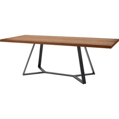 Archie L 240 Dining Table Frame Anthracite Top Walnut