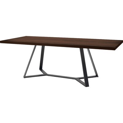 Archie L 200 Dining Table Frame Anthracite Top Wild Oak