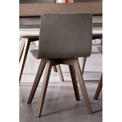 Flexa-LX Side Chair (Set of 2) Frame: Anthracite, Seat: Flirt Brown