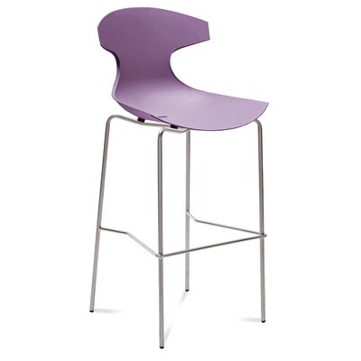 Echo 29 Bar Stool Upholstery: Purple
