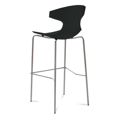 Echo 29 Bar Stool Upholstery: Black