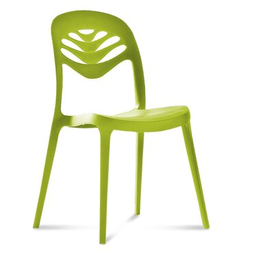 ForYou2 Stacking Side Chair (Set of 4) Finish: Green
