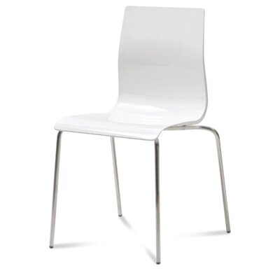 Gel Side Chair (Set of 2) Finish: White, Frame Finish: Metal