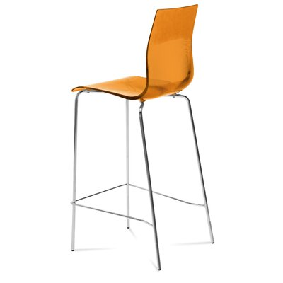 Gel 27.3 Bar Stool Upholstery: Transparent Orange