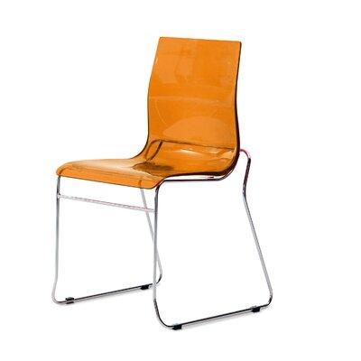 Gel Side Chair (Set of 2) Color: Transparent Orange