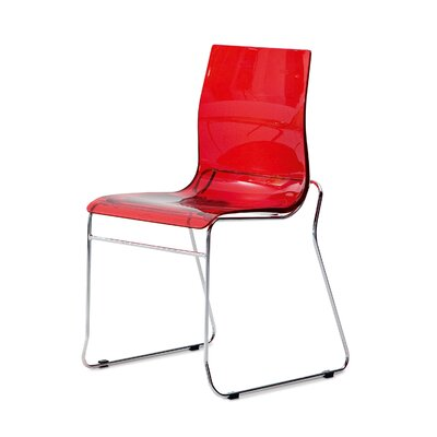 Gel Side Chair (Set of 2) Color: Transparent Red