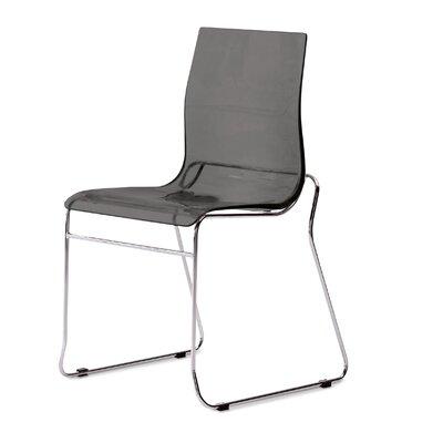 Gel Side Chair (Set of 2) Color: Transparent Smoke
