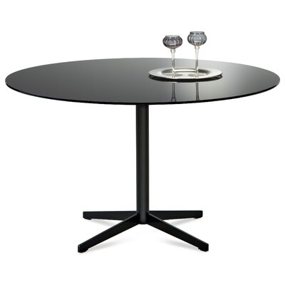 Jasper Dining Table Finish (Frame / Top): Black Lacquered / Black Glass