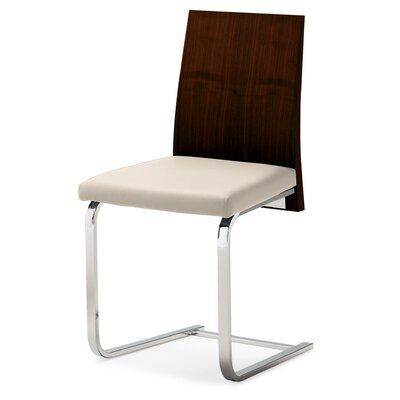 Low Price Domitalia Jeff-sl Dining Chair (Set of 2) Upholstery: White, Finish: Wenge