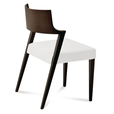 Lirica Leather Side Chair (Set of 2) Upholstery: Wenge, Upholstery: White Leather