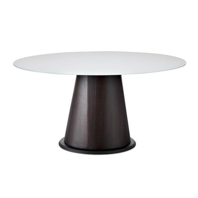 Palio 152 Dining Table Finish Frame Wenge Top Extra White Glass