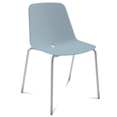 Dot Side Chair (Set of 2) Color: Satinated Aluminum
