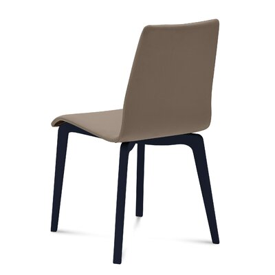 Jude-L Dining Chair (Set of 2) Frame Finish: Anthracite, Upholstery: Skill Taupe
