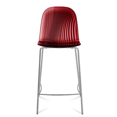 Playa 26.5 Bar Stool Upholstery: Transparent Bordeaux Red