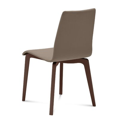 Jude-L Upholstered Dining Chair (Set of 2) Upholstery: Skill Taupe, Frame Finish: Chocolate