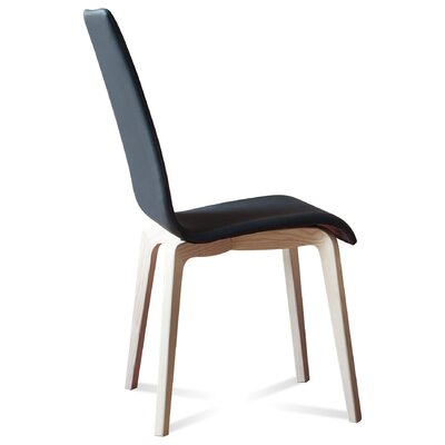 Jill-L Side Chair (Set of 2) Upholstery: Skill Black, Finish: White Ash