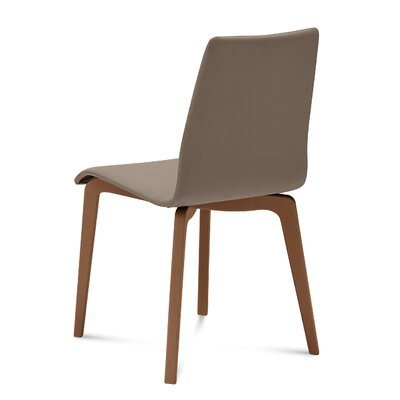 Jude-L Dining Chair (Set of 2) Upholstery: Skill Taupe, Frame Finish: Walnut