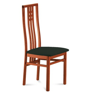 Low Price Domitalia Scala Dining Chair (Set of 2) Finish: Cherry, Upholstery: Toulouse Black