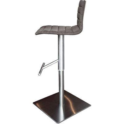 Jam Adjustable Height Swivel Bar Stool Upholstery: Flirt Brown