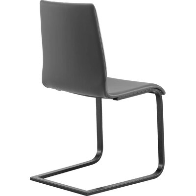 Jude-sp Side Chair (Set of 2) Upholstery: Black, Frame: Silver