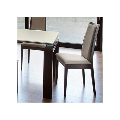 Topic Side Chair (Set of 2) Finish: Wenge, Upholstery: Beige