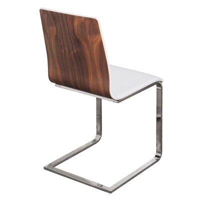 Juliet-sl Dining Chair Upholstery: White, Finish: Walnut