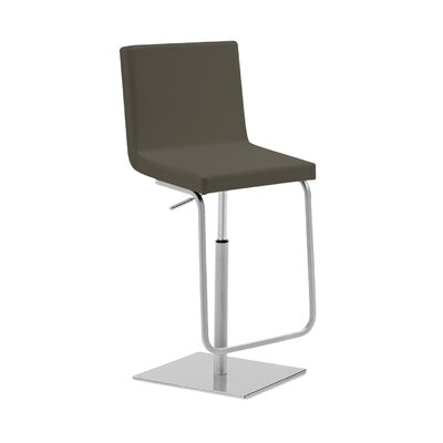 Afro SG Adjustable Height Swivel Bar Stool Upholstered: Gray