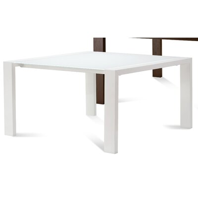 Fashion Square Dining Table Finish: White High Glossy Lacquered / Extra White Glass