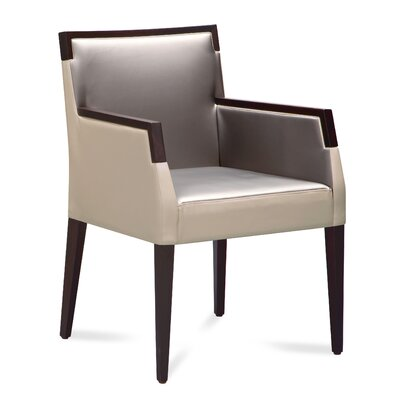 Ariel-pi Arm Chair Finish: Wenge, Upholstery: White/Grey