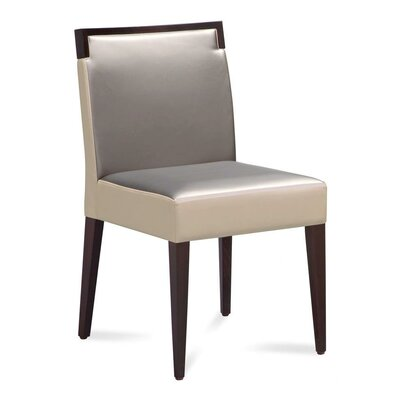 Ariel Dining Chair (Set of 2) Frame: Wenge, Upholstery: White/Grey