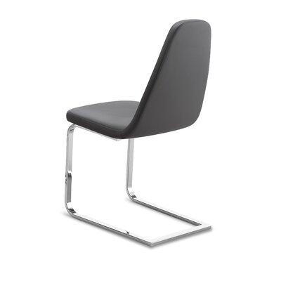 Kennicott Upholstered Dining Chair Upholstery: Gray, Finish: Chrome