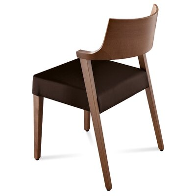 Lirica Genuine Leather Upholstered Dining Chair (Set of 2) Color: Walnut