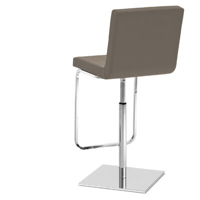 Afro Adjustable Height Swivel Bar Stool Upholstery: Bloom Taupe