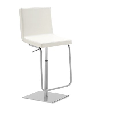 Afro Adjustable Height Swivel Bar Stool Upholstery: Bloom White