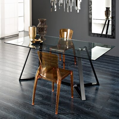 Archie Dining Table Finish: Black Lacquered