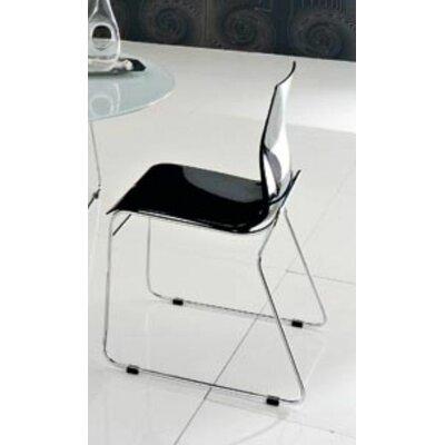 Gel Side Chair (Set of 2) Color: Black