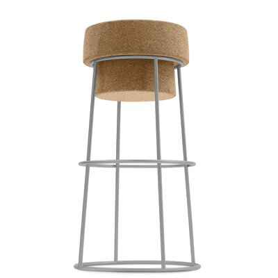 Bouchon 30 Bar Stool Finish: Satinated Aluminum