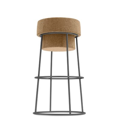 Bouchon 26 Bar Stool Finish: Graphite