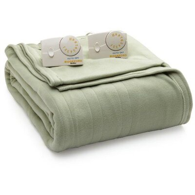Comfort Knit Heated Blanket Color: Sage, Size: Queen