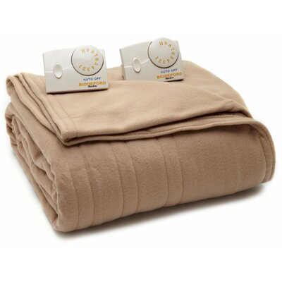 Comfort Knit Heated Blanket Size: Twin, Color: Fawn
