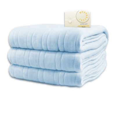 Comfort Knit Heated Blanket Size: Twin, Color: Cloud Blue
